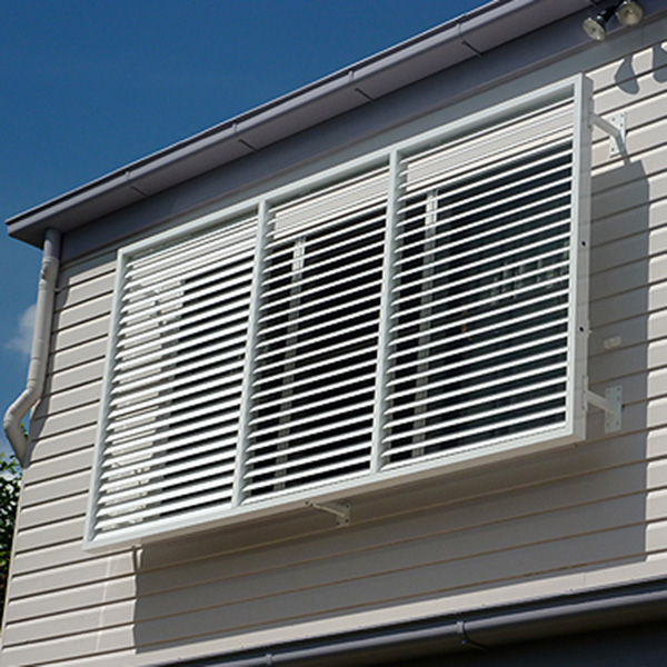 Sun louvres for Exterior window privacy screens